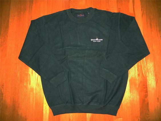 Men's CHASE EDWARD crew neck 100% cotton sweater Meadow Creek logo  M L NEW