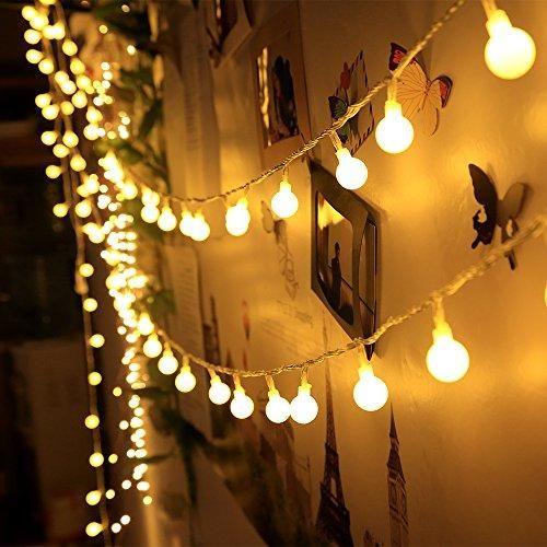 Batería LED Blanco Cálido Cadena De Luces Bombillas Navidad Fiesta Casa Jardín Decoraciones