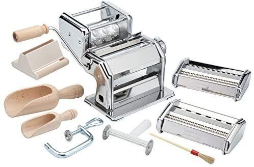 Amazon Com Imperia Pasta Maker Machine Deluxe 11 Piece Set W Machine Attachments Recipes And Accessories Kit Pasta Maker Pasta Maker Machine Pasta Factory