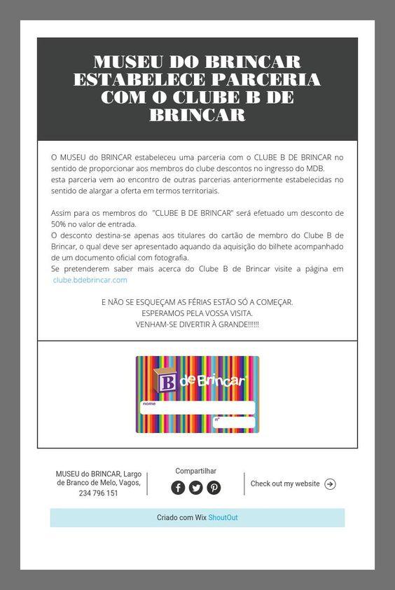 MUSEU DO BRINCAR ESTABELECE PARCERIA COM O CLUBE B DE BRINCAR