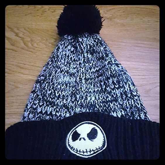NWOT jack the skellington beanie Brand new nightmare before Christmas beanie! Was given to me as a gift just not my stle anymore Hot Topic Accessories Hats