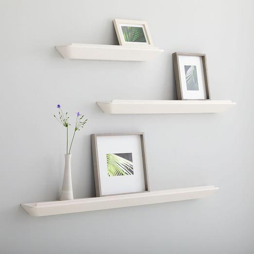 Slim Floating Shelf White In 2020 Floating Shelves Picture Ledge Wood Floating Shelves