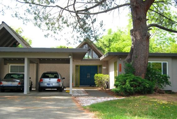 Blue mid century modern doors midcentury atomic ranch for 1950s front door designs