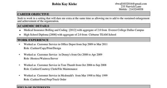 Pin by Robin Kieke-Wall on resumr Pinterest Filing - courtesy clerk resume