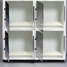 General Cage 4-Unit Fiberglass Cages with Rollerbase