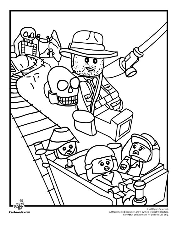 Lego Coloring Pages Lego Indiana Jones Coloring Page