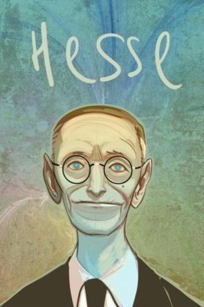 Hermann Hesse dibujado por Dave McCaig. http://www.dave-co.com/