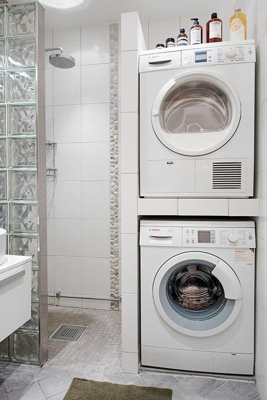 Wneka Na Pralke I Suszarke W Lazience Lazienka Styl Nowoczesny Aranzacja I Wystroj Wnetrz Laundry Room Bathroom Vintage Laundry Room Laundry In Bathroom