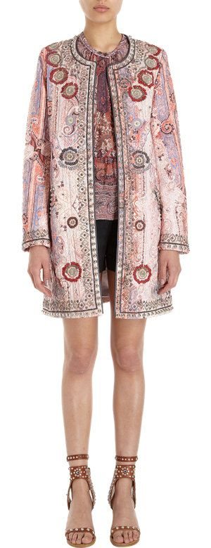 Isabel Marant Long Paisley Print Coat at Barneys.com
