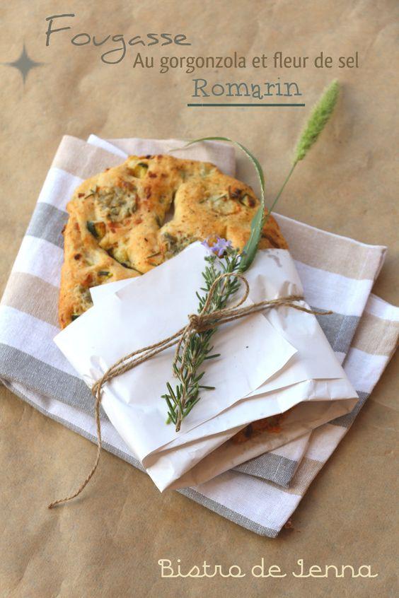 Fougasse au gorgonzola romarin et fleur de sel - Bistro de Jenna