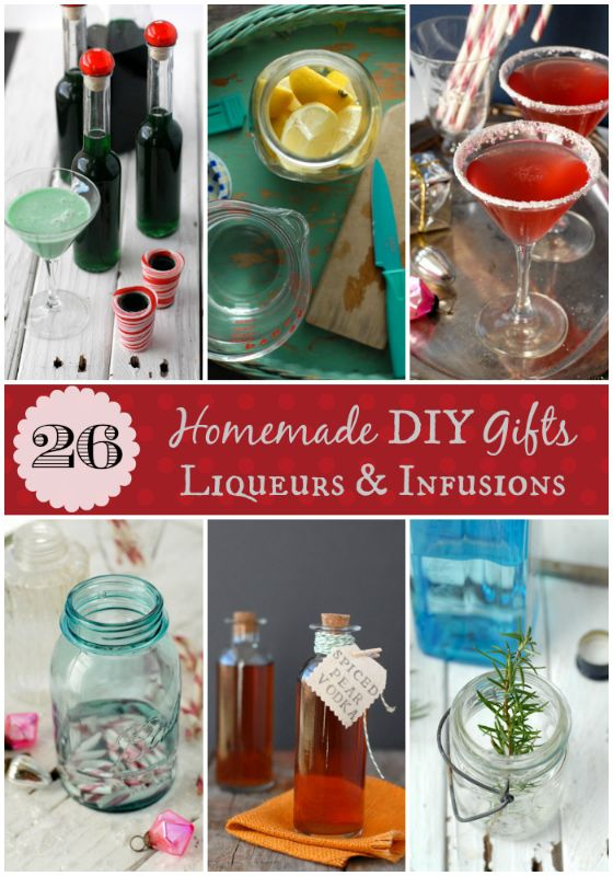 26 Homemade DIY Gifts Liqueurs and Infusions ~T~12 Infused Vodkas, 2 infused Gins, Pear Brandy, Homemade Creme de Menthe, Coffee Liqueur, Cranberry Liqueur, Amaretto, Hazelnut Liqueur, Vanilla Caramel Liqueur, Yuletide Spiced Brandy Liqueur, Pear Liqueur, Honey and Saffron Liqueur.