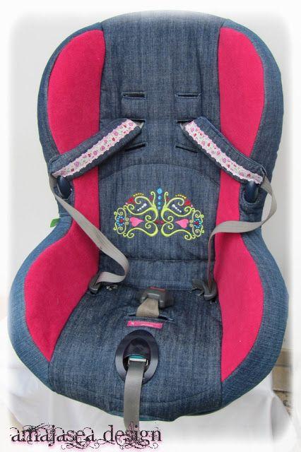 Amajasea: Ein neuer Bezug für den Kindersitz - Tutorial, Outfit für die Kleine und eine schöne neue Stickdatei ....