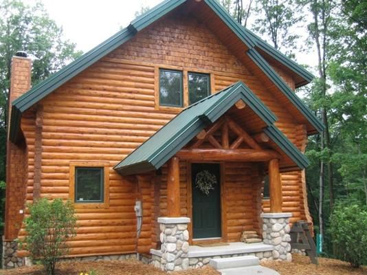 Log cabin siding log cabins and logs on pinterest E log siding