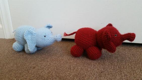 Elefantes bebé por PrestCrochetCompany en Etsy
