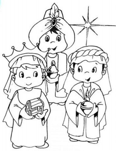 Dibujos de los Reyes Magos para imprimir y pintar | Pintar imágenes: