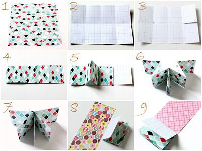 One 12x12 sheet of paper makes a mini album.