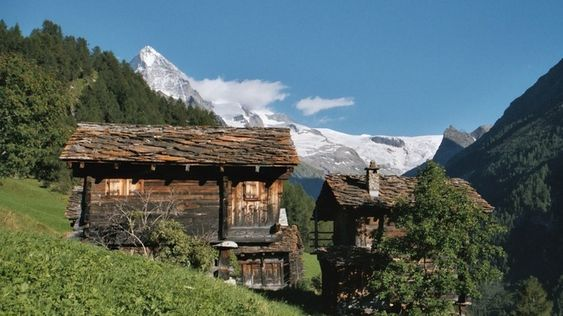 Dwelling and Granary. Val d'hérens, Switzerland.