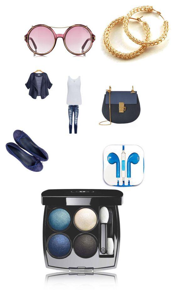 """#outfit#girl#jeansmode#chloe#bag#easy#polyvore#polyvoreapp#fashion#fashionblog#setbyfranerli"" by fra-nerli on Polyvore featuring moda, Current/Elliott, Majestic, Chloé, PhunkeeTree e Chanel"