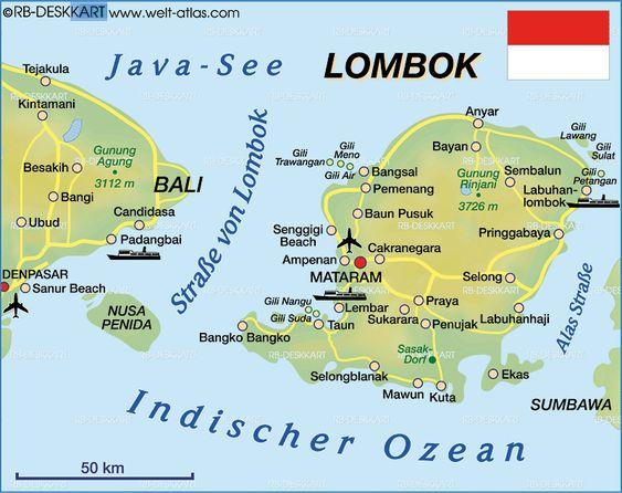 peta lokasi gili trawangan di lombok