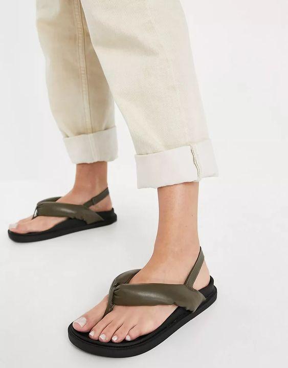 Minorca Padded Toe Post Sandals Public Desire at ASOS