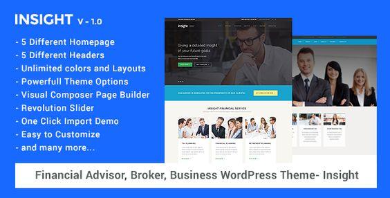 cool Financial Advisor, Business WordPress Theme - Insight (Miscellaneous)