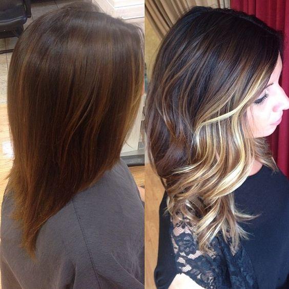 Balayage ombre sombre fall haircolor. Hair by Rachel Fife @ Sara Fraraccio Salon in Akron, Ohio