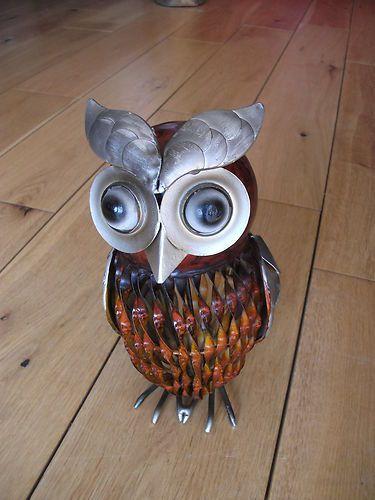 Metallic Owl Metal