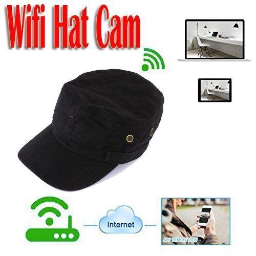 Mdtek Hd 720p P2p Ip Camera Wearable Mini Wifi Spy Hat Camera Mini Covert Hat Cap Camcorder Portable Dv Camcoder Wifi Nanny Cam Ipad Video Android Pc Spy Hats
