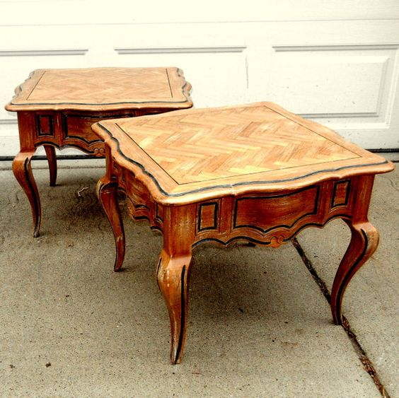 Two BUNCHING TABLES /  French Influenced / by EclectibleParts4U, $110.00