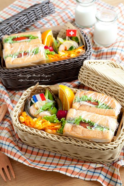"""Sandwich lunch box of tomatoes and chicken ham.   Mom official blog Ru """"Oh daily lunch weather ♪"""" Powered by Ameba"""