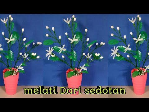 Cara Membuat Bunga Melati Dari Sedotan Youtube Bunga Sedotan