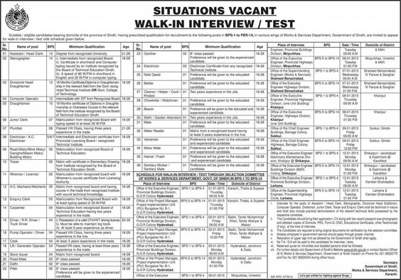 Sindh Workers and Service Department Jobs 2016 Application Form - employment verification form
