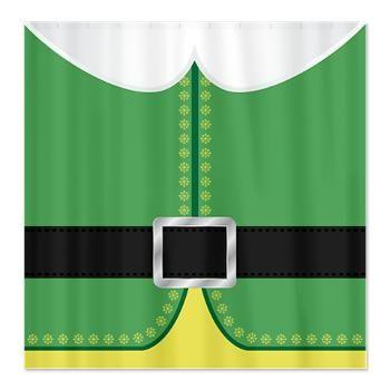 Buddy the Elf Costume Shower Curtain $42.99