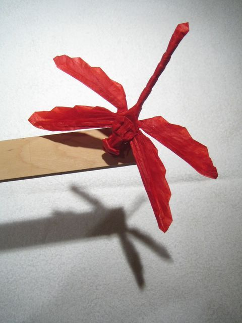 Origami Dragonfly..make in burgundy and sell for donations ... - photo#16