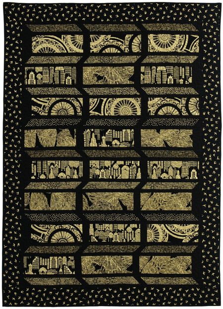 Lux Black Quilt... totally reminds us of #HungerGames (District 1 and #mockingjay)