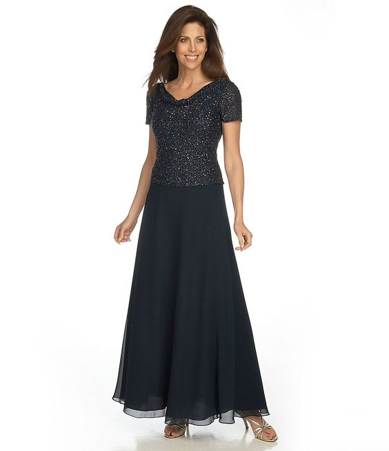jkara chiffon gown colors dillards and ps