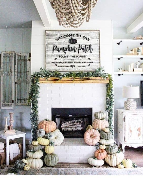 25 Inspiring Fall Mantel Decorating Ideas Fall Fireplace Decor Fall Mantel Decorations Fall Decor Inspiration