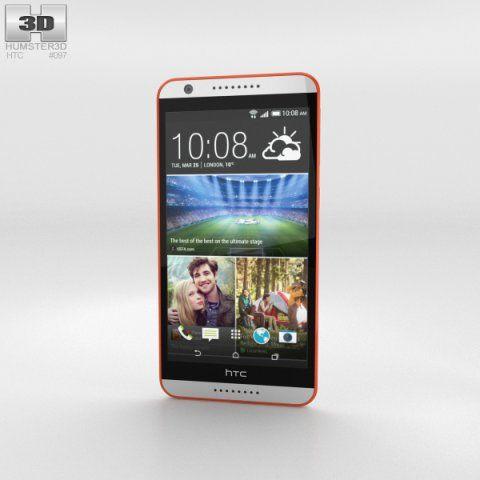 HTC Desire 820 Tangerine White 3D Model .max .c4d .obj .3ds .fbx .lwo .stl @3DExport.com by humster3D @3