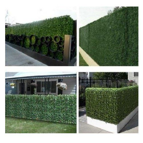 Artificial Topiary Hedge Plant Privacy Fence Screen Greenery Panels Suitable For Both Outdoor Or Indoor Garden Or Backyard And Home Decorations Boxwood 20 X 2 In 2020 Artificial Topiary Artificial Hedges Privacy Fence Screen