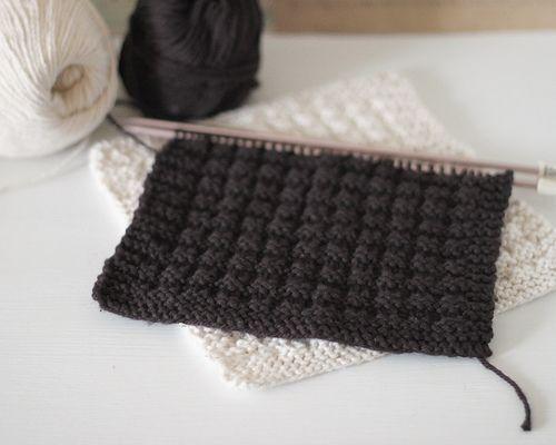 Knit Waffle Stitch Dishcloth : Beautiful, Knitting and Awesome on Pinterest