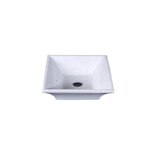 Virtu USA Damon Vessel Sink in White