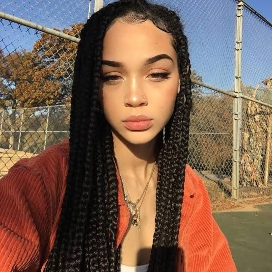 Braids Braidshairstyle Trendingbraids Trendinghairstyle In 2020 Braided Hairstyles Hair Styles Box Braids Hairstyles