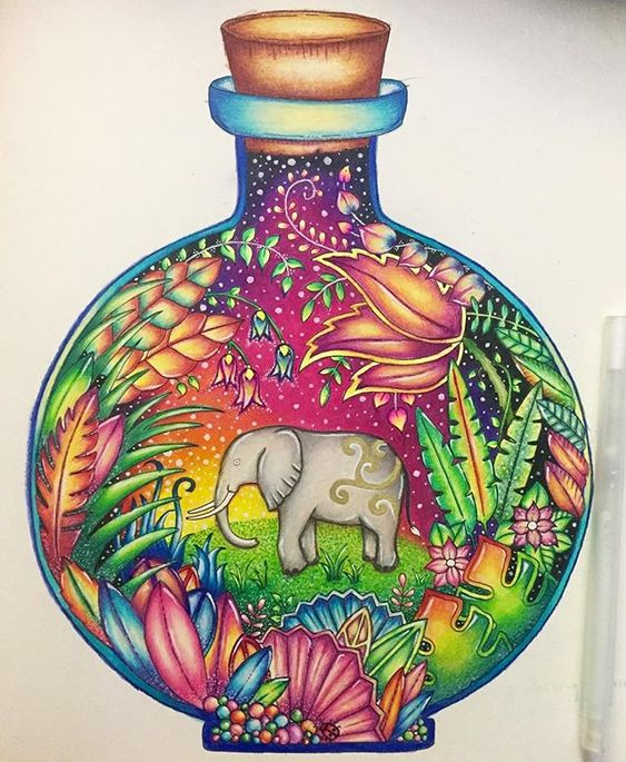 I used mostly Prismacolor pencils and a few gel pens for this lovely picture :)…