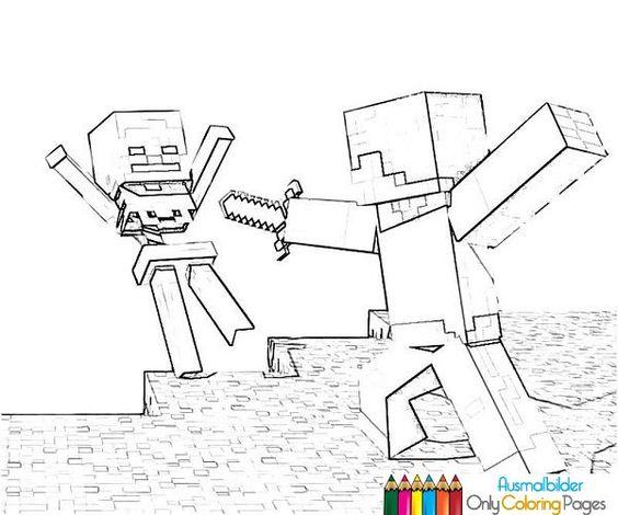Minecraft Ausmalbilder Ausmalbilder Pinterest Minecraft