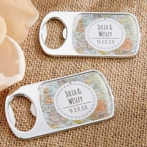 Personalized Travel Bottle Opener - 16 Favors Your Guests Actually Want on Early Ivy earlyivy.com