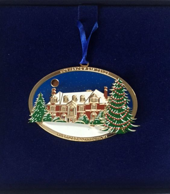 1995 Governor's Residence Hartford Connecticut CT Christmas Ornament in Box