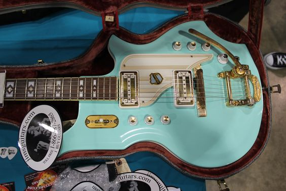 1965 original National Glenwood 99 vintage guitar in Seafoam Green.
