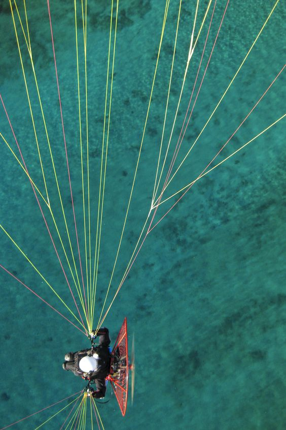 Pilote de paramoteur - Vue aérienne - Provence http://www.matthieucolin.com/mon-portfolio/
