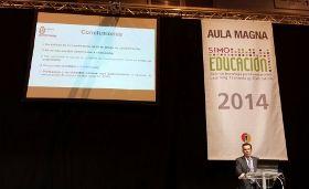 """Juan Luis Rubio presentaba en el SIMO Educación 2014 el proyecto de investigación """"El reconocimiento facial aplicado a la identificación del alumno en la educación online""""."""