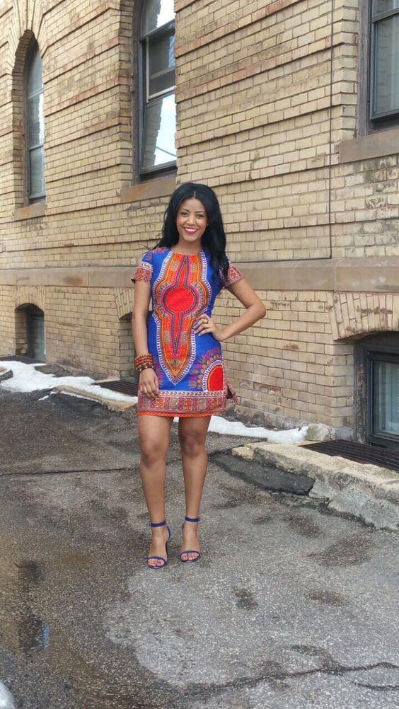 Dashiki African Print Dress: